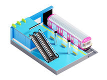 Subway station isometric Royalty Free Stock Images