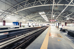 Subway station in Kuala Lumpur, Malaysia Royalty Free Stock Photography