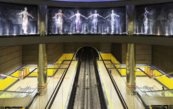 Subway station in Madrid Stock Photography