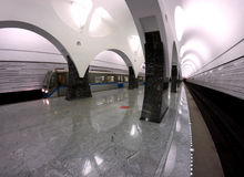 Subway station Moscow train Stock Image