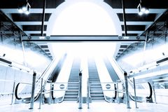 Subway station and motion peoples Royalty Free Stock Images