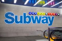 Subway station in New York City royalty free stock photography