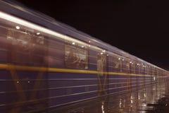 Subway station at night Stock Photography