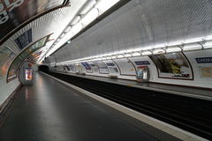 Subway station in Paris stock photography