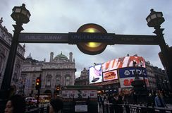 Subway station, Piccadilly Circus, London Royalty Free Stock Photo
