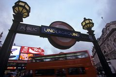 Subway station, Piccadilly Circus, London Royalty Free Stock Image