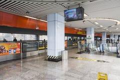 Subway station platform. Niuqiaotuo subway station. This photo was taken in chongqing city,sichuan province,china Royalty Free Stock Photos