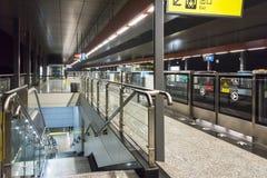 Subway station platform. Xiejiawan subway station. This photo was taken in chongqing city,sichuan province,china Royalty Free Stock Images