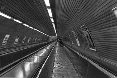 The subway. Station in Prague Stock Photography