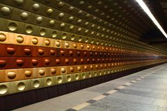 Subway station from Prague Stock Photography
