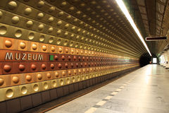 Subway station in Prague Royalty Free Stock Photos