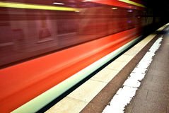 Subway in the station Royalty Free Stock Photo