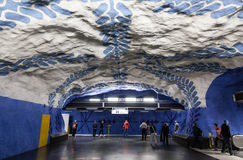 Subway Station in Stockholm Royalty Free Stock Photography
