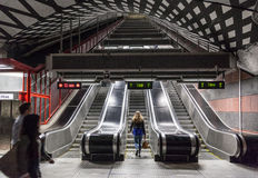 Subway Station in Stockholm Royalty Free Stock Photos