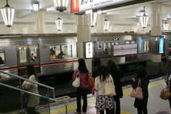 The subway station at  Tennoji Stock Images