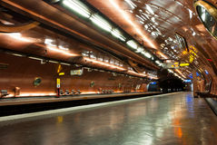 Subway station to Paris. Subway station, Mairie des Lilas to Paris. France Stock Photography
