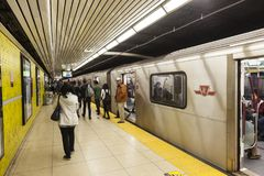 Subway Station in Toronto, Canada stock photography
