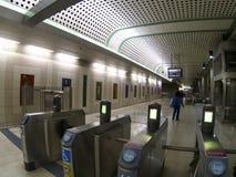 Subway station gates Royalty Free Stock Photography