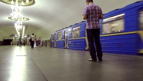 Subway station stock video footage