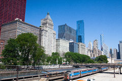 In a subway station Van Buren Street in Chicago Stock Image