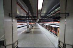 Subway station. View on subway platform Royalty Free Stock Photos