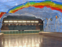 Subway in Stockholm. Stadion Metro Station in Stockholm - Sweden Stock Photography