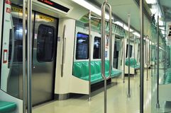 Subway in Taiwan. Empty subway carriage in off peak time in Taiwan Stock Photos