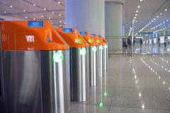 Subway ticket gate design Stock Images
