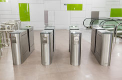 Subway ticket gates Royalty Free Stock Images