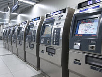 Subway Ticket machines Stock Photos