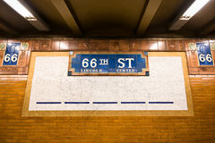 Subway to Lincoln Ctr Nyc Royalty Free Stock Photo