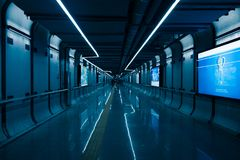 Subway to train station in china stock images