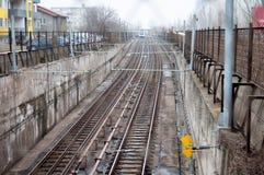 Subway tracks Royalty Free Stock Photography