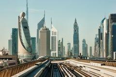 Subway tracks in the united arab emirates Royalty Free Stock Photo