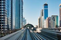 Subway tracks in the united arab emirates Royalty Free Stock Photos