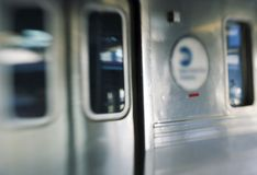 Subway train stock image
