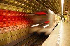 Subway train Stock Photo