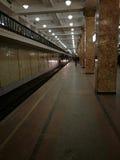 Subway train arriving. Komsomolskaya, Moscow, Russia - february 06, 2017: subway train arriving Stock Image