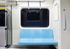 Subway train empty seat. Taipei subway train empty seat Royalty Free Stock Images