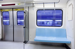 Subway train empty seat Stock Photo