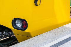 Subway Train Headlight Arriving Red White Light Daytime Yellow S Stock Image
