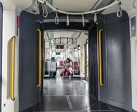 Subway train inside in Istanbul, Turkey royalty free stock images