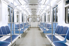 Subway train interior Royalty Free Stock Photography