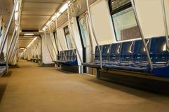 Subway train interior design Royalty Free Stock Image