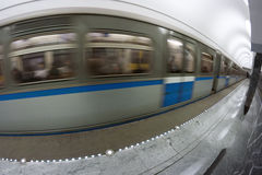 Subway train motion Stock Images