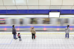 Subway train in motion arriving Stock Photos