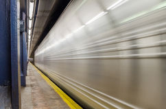 Subway Train in Motion Royalty Free Stock Photos