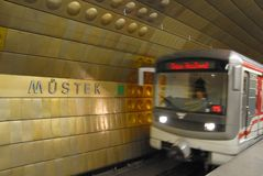 Subway train,motion blur Stock Image