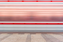 Subway train in motion Stock Images