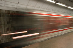 Subway train in move Stock Photography